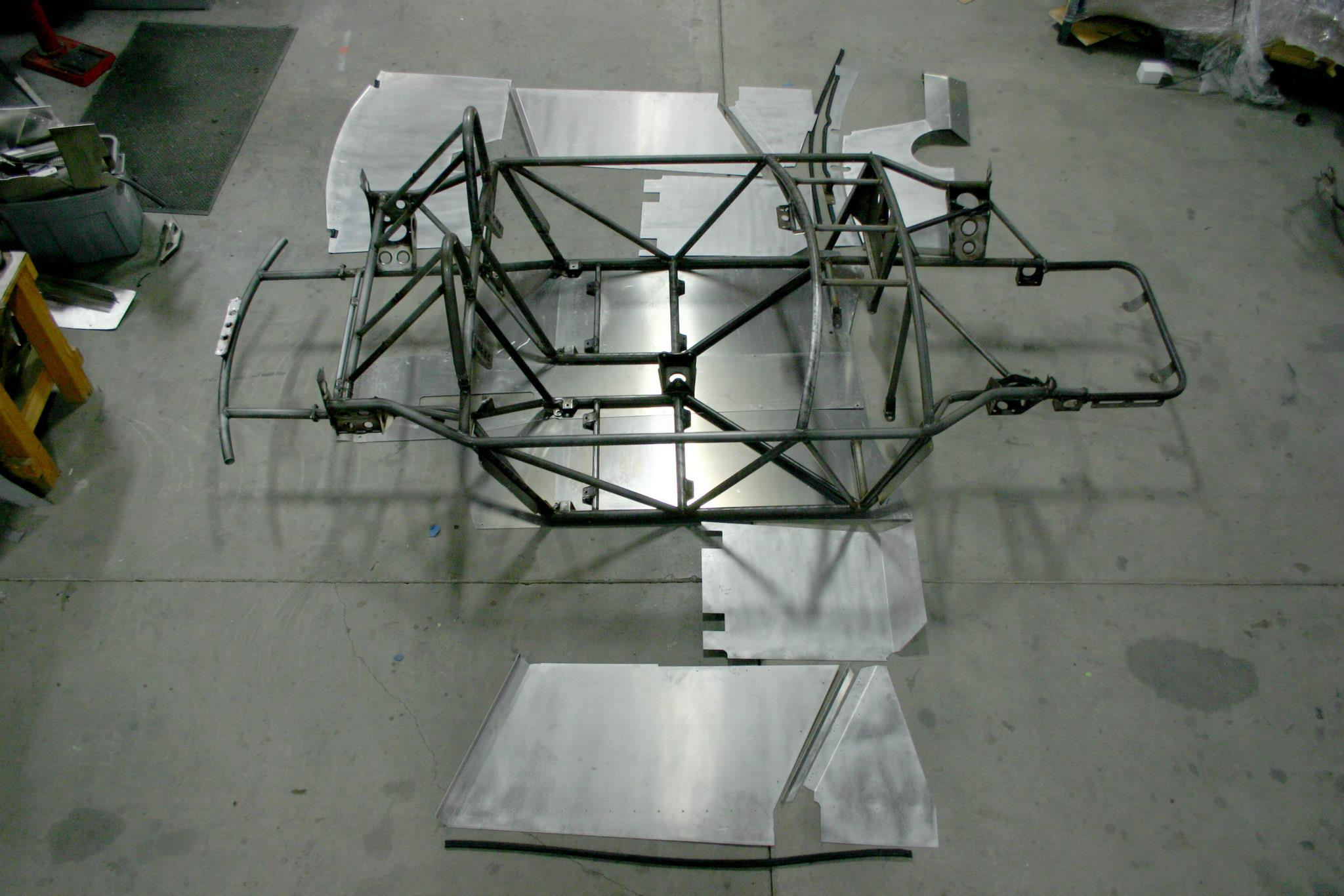 aluminum laid out