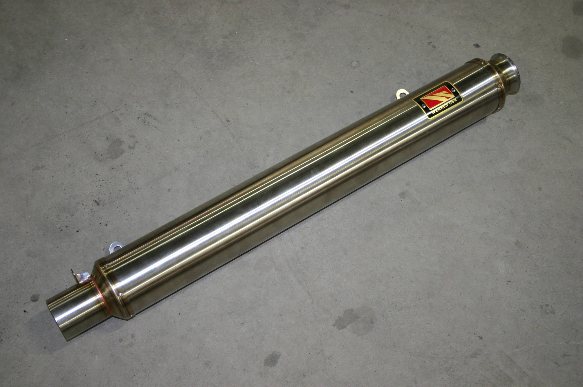 long stainless side pipe