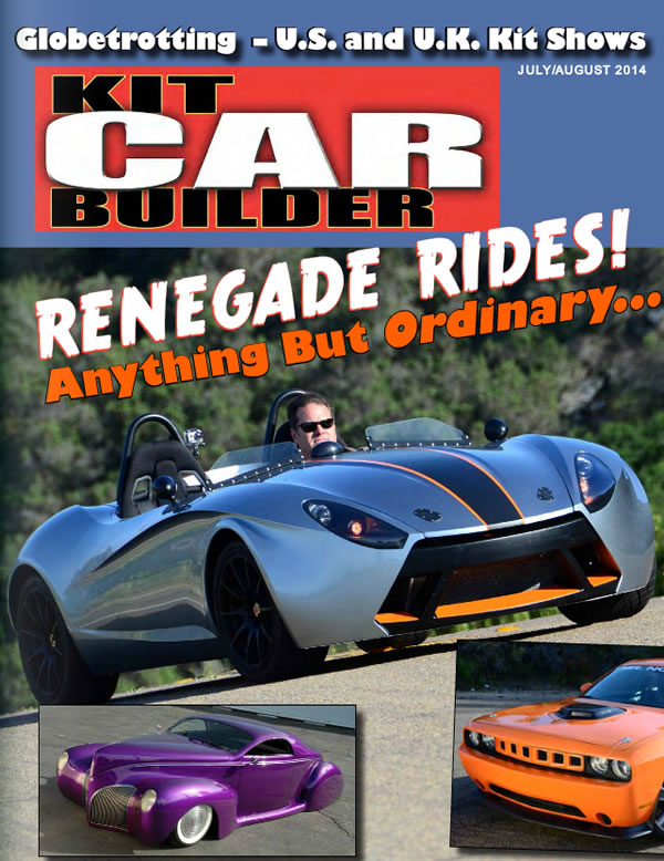 Turbo powered Catfish make the cover of Kit Car Builder July 2014