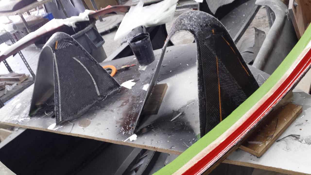 Use the aluminum bucks to make molds for carbon or fiberglass covers