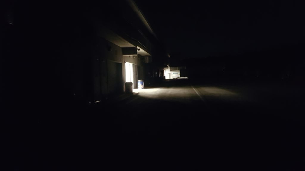 Laguna Seca garages, night